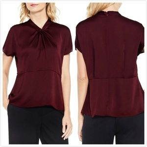 NWT vince Camuto Twist Mock Neck Blouse Top